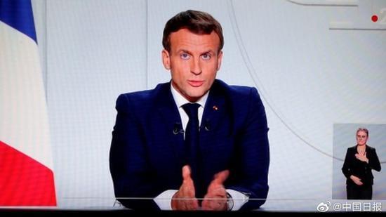 马克龙宣布法国即将再度全境封城 预计至少持续至11月底