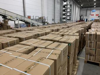 通過這個核心倉,補貨口罩可以實現一地發全國,更快到達消費者手中