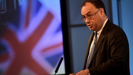 英国央行行长称尚未准备好采用负利率