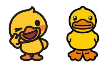 左:核桃小鸭 右:小黄鸭