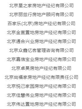 北京查处星之家等12家房产中介 其中两家为再犯