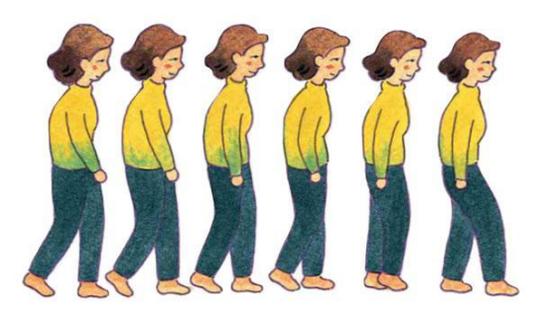 健康小知识:走路姿势反映身体情况