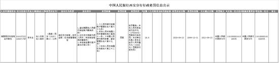 城固县农信联社被罚27.5万:对外支付残缺污损人民币
