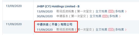 传中通快递拟明日在港招股 二季度净利14.5亿增至6.5%