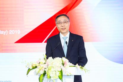 中欧国际工商学院院长李铭俊教授发表主题演讲