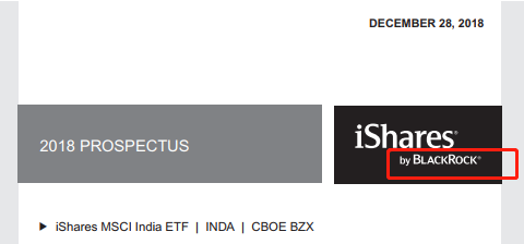 图:ISHARES MSCI INDIA ETF招募书