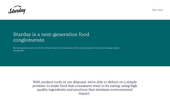 健康食品品牌「Starday」种子轮融资400万美元,主打可持续、全天然零食
