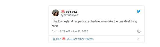 迪士尼乐园计划7月17日重新开放 近万人发帖表示担忧