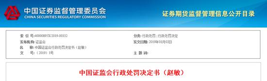 中航证券一营销总监违法买卖股票 被罚款60万
