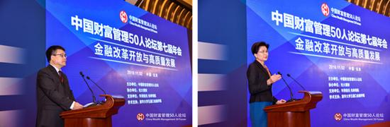CWM50秘书长刘喜元(左)、CWM50理事孙晓霞(右)