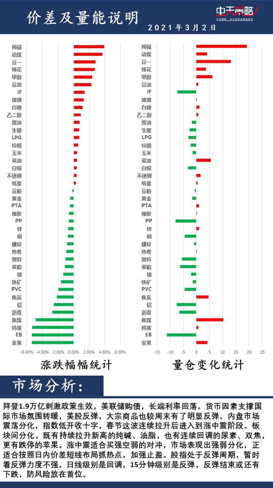 中天策略3月2日市场分析:重视风险 积极调整
