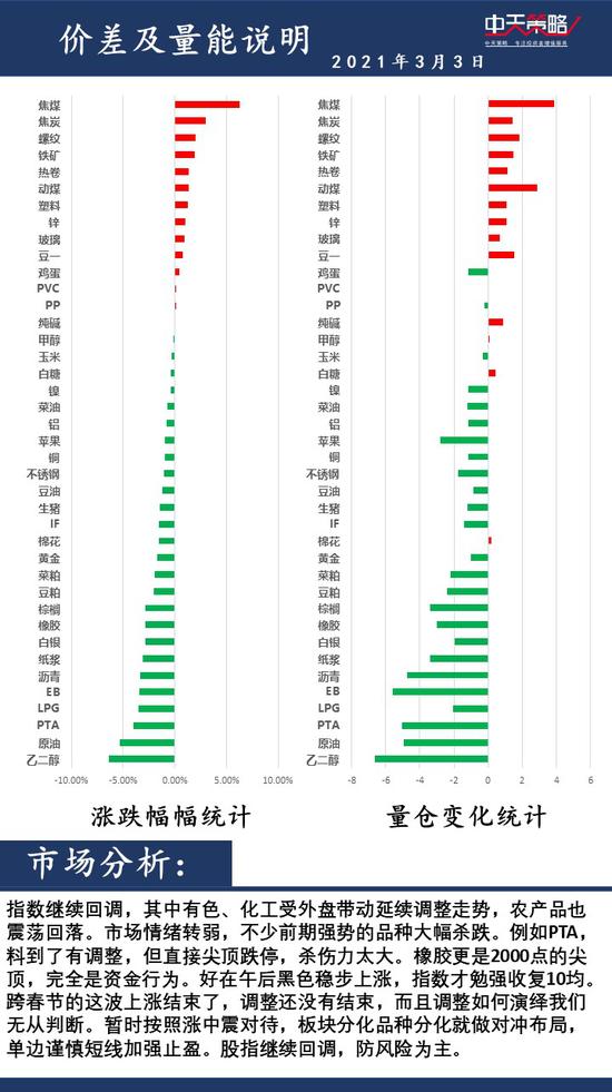 中天策略3月3日市场分析:重视风险 积极调整