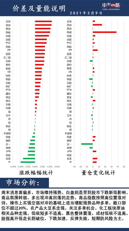 中天策略3月9日市场分析:重视风险 积极调整