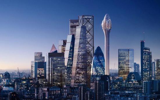 """伦敦市长否决建造305米高""""郁金香大厦""""计划"""