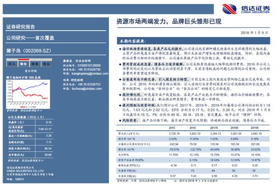 獐子岛资源市场两端发力,品牌巨头雏形已成,评级给予了增持评级