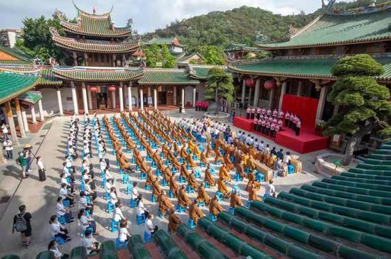 厦门市佛教界庆祝中国共产党成立100周年专题展在南普陀寺举行