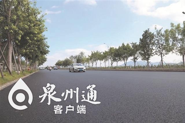 泉州江滨南路(鲤城段)主路通车 工程预计10月底完工