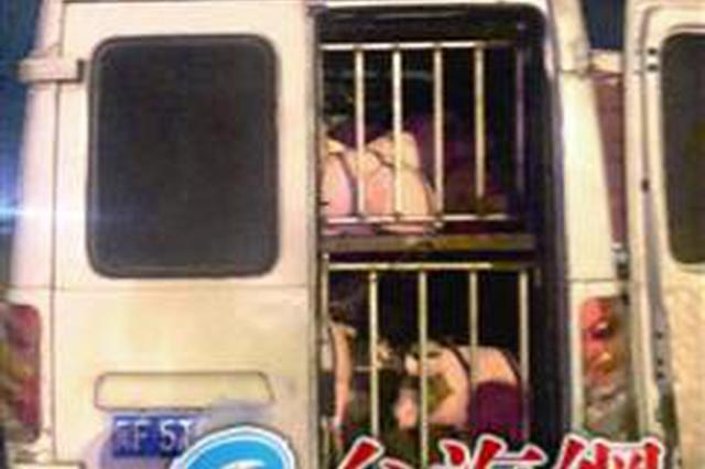 漳州两客车被改成猪笼 超载的竟是几十只生猪