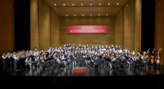 校际管乐联盟艺术展演奏响鹭岛 师生联袂演绎经典名曲