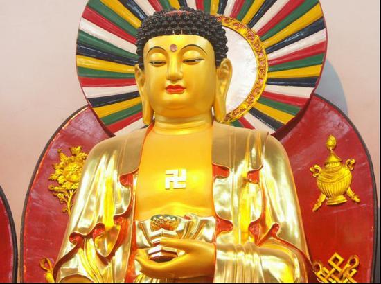 燃灯佛,梵文Dipamkar,意为'锭光',又叫定光如来、普光如来,是过去庄严劫中所出世的千佛之首。(资料图片)