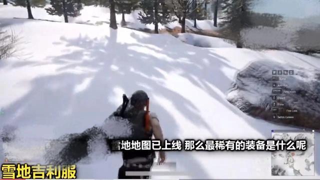 絕地求生:雪地地圖上線,雪地吉利服成吃雞神器,效果太圖片
