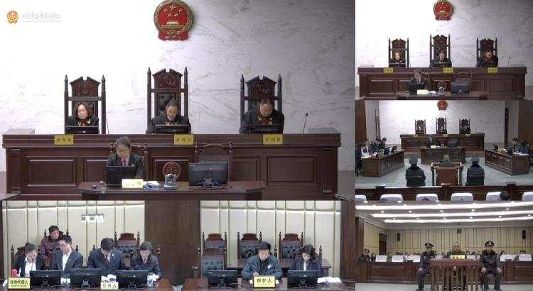 庭审现场。图片/中国庭审公开网截屏