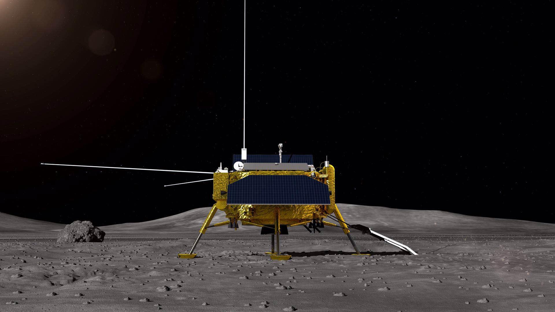 玉兔号月球全景图_嫦娥四号任务月球车全球征名启动!快来发挥你的才华吧|嫦娥四 ...