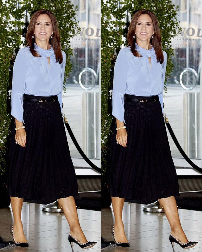 丹麦王妃_46岁丹麦王妃终于穿裤子,腿长\