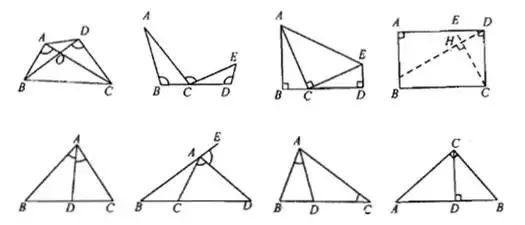 推廣:兩個任意相似三角形旋轉成一定角度,成旋轉相似.圖片