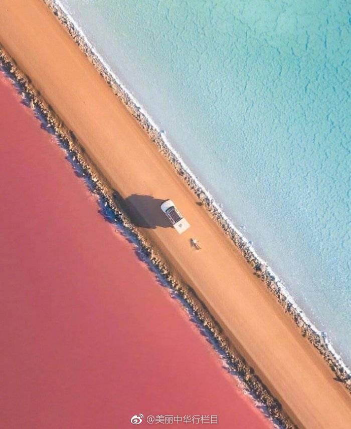 麦克唐纳尔湖,切开的彩虹蛋糕