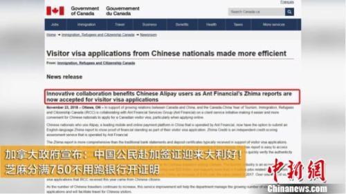 原料图片:添拿大侨民部宣布,芝麻名誉报告可做签证财力表明。钟新摄