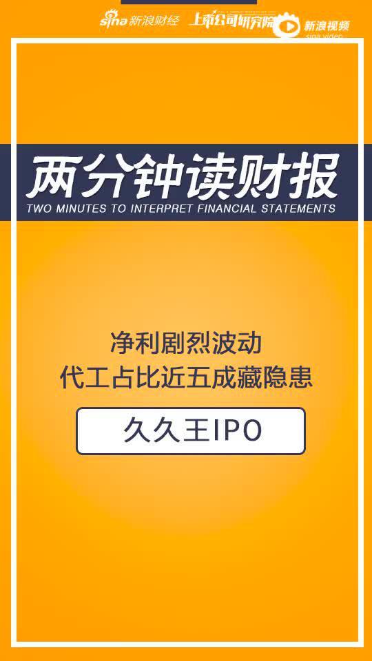 2分钟读财报|久久王港股IPO:净利剧烈波动 代工占五成藏隐患