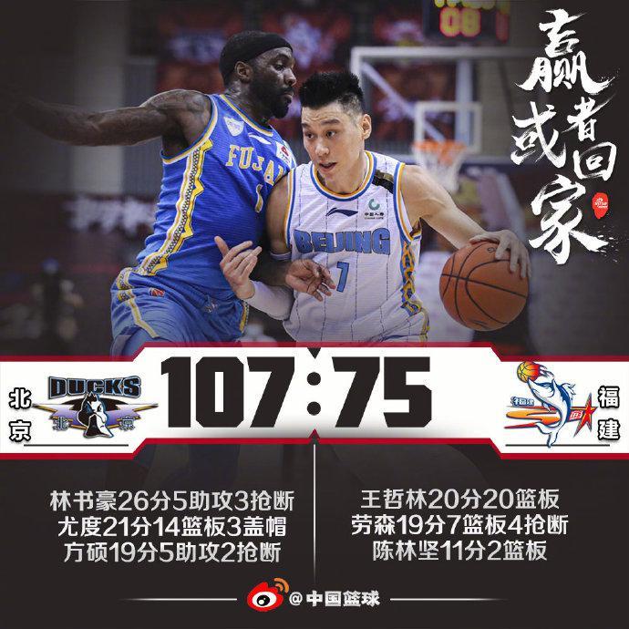 林书豪豪夺26分北京6人上分战胜福建