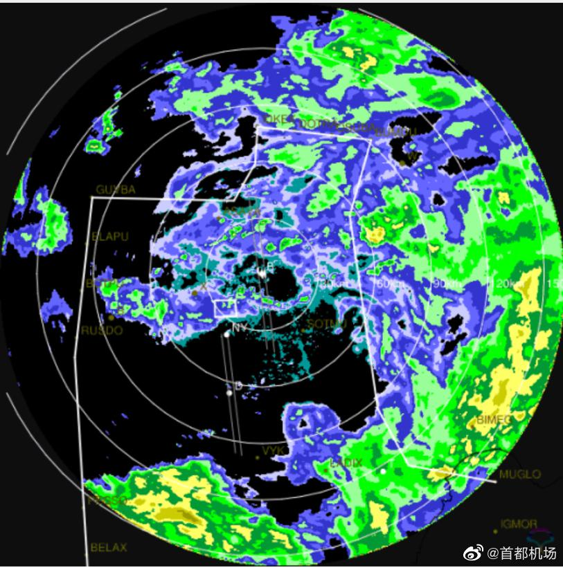 受降雨影响北京首都机场已取消199架次航班