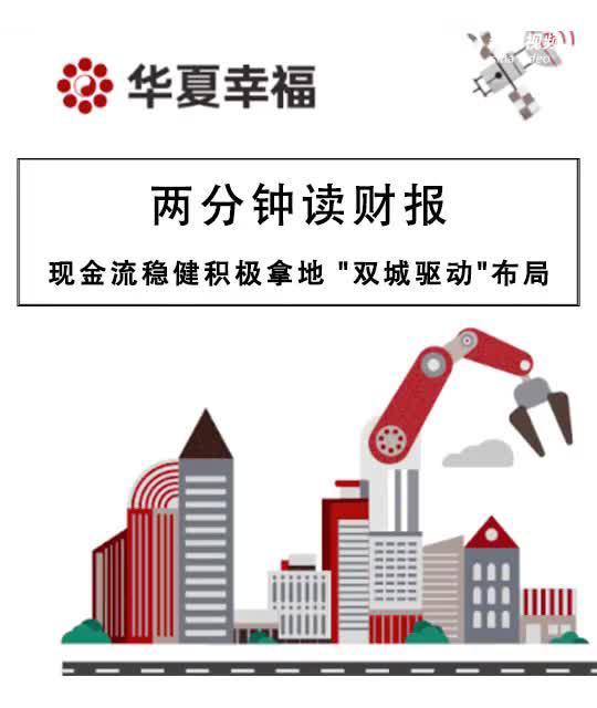 """华夏幸福半年报:现金流稳健积极拿地 """"双城驱动""""布局"""