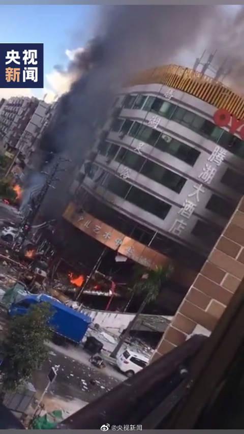 珠海OYO腾湖大酒店附近发生爆炸 伤亡不明