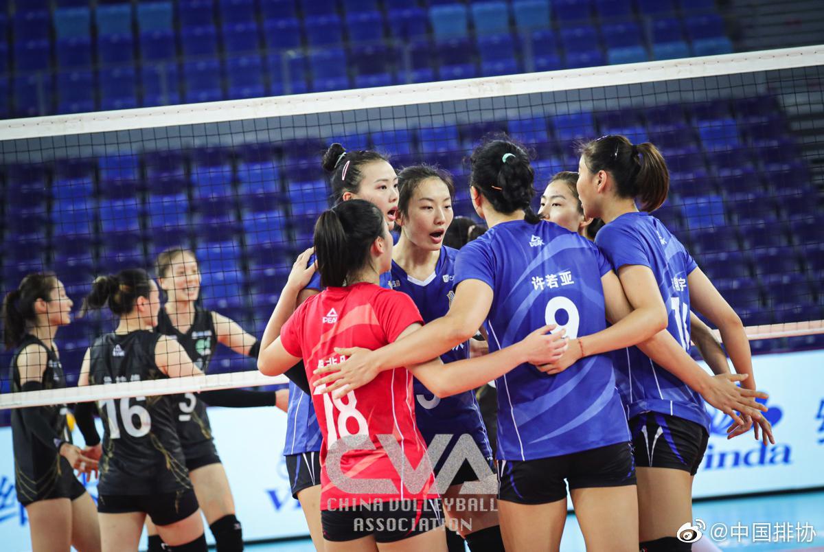 全锦赛江苏女排3-0横扫四川 首先晋级四强 