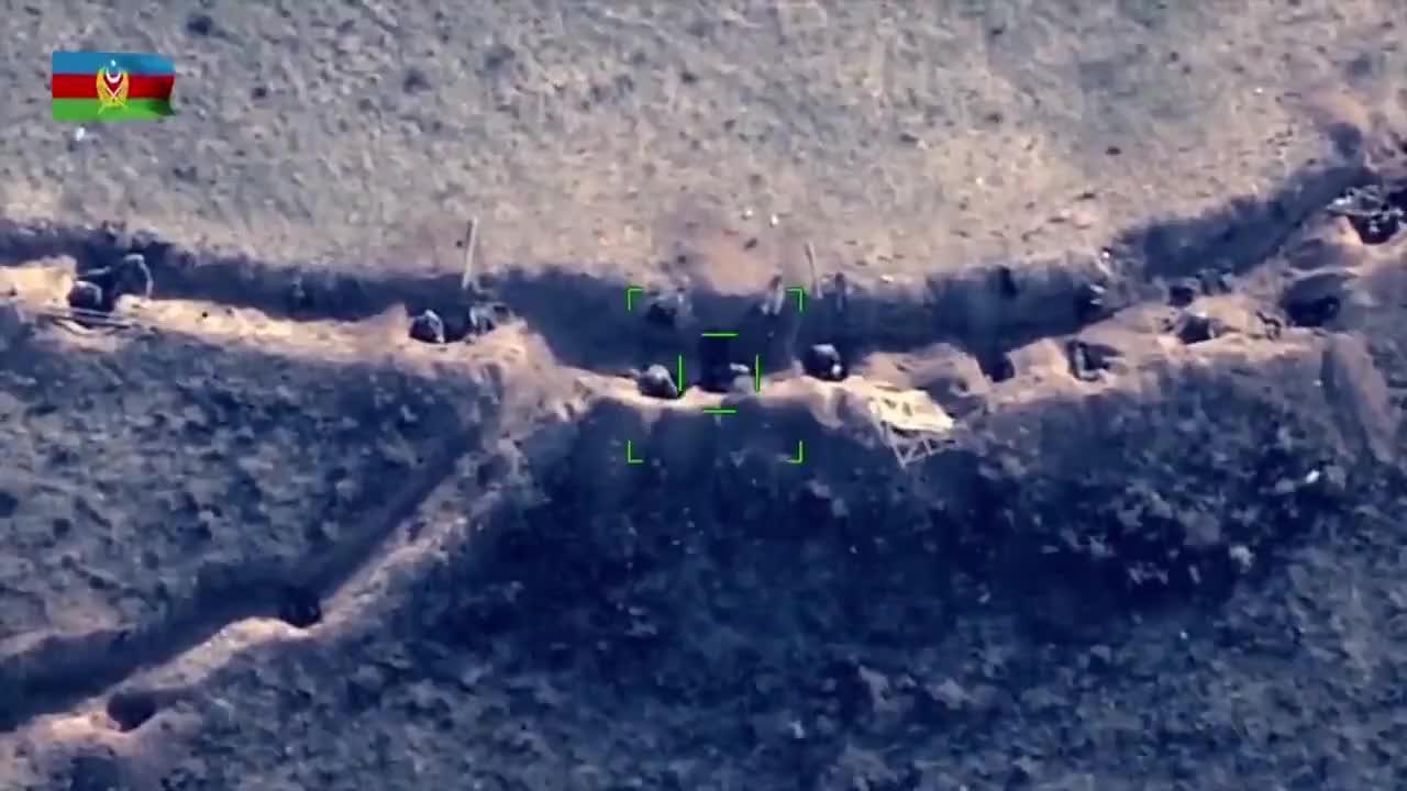 技术装备打的差不多了 阿塞拜疆的无人机开始改打人了
