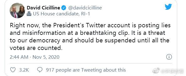 【蜗牛棋牌】部分民主党议员要求推特封杀特朗普账号
