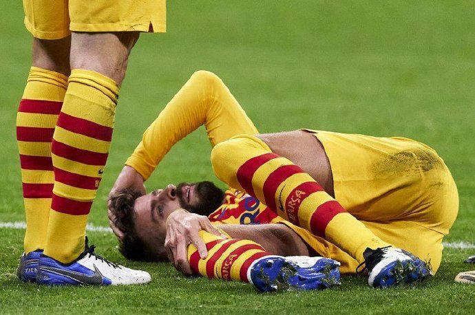 巴萨官方:皮克韧带受伤 罗贝托右腿受伤缺阵2个月