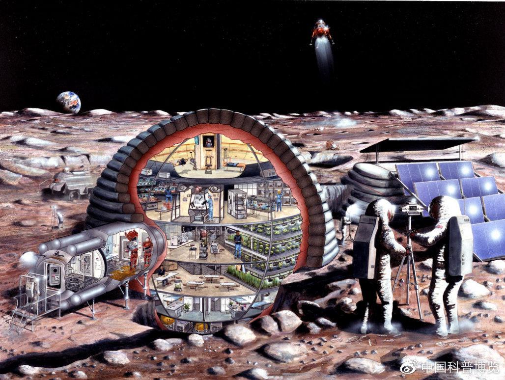 全人类也在期待能通过国际合作,建立人类在月球的第二家园 ©️NASA
