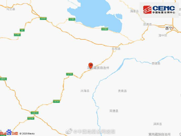 青海海南州兴海县发生3.1级地震,震源深度10千米