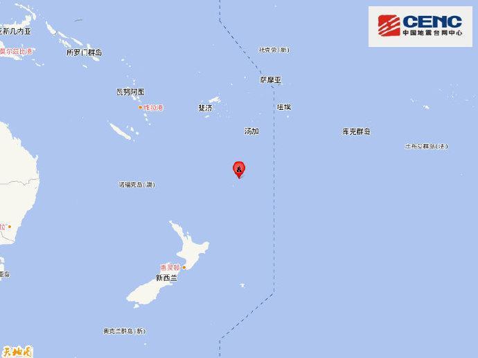 新西兰克马德克群岛地区附近发生6.7级左右地震