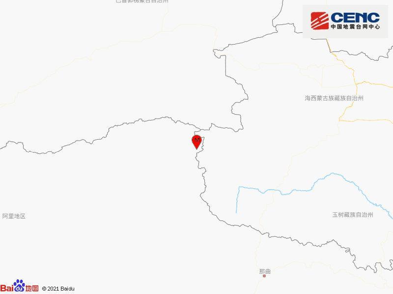西藏那曲市安多县发生4.4级地震 震源深度10千米