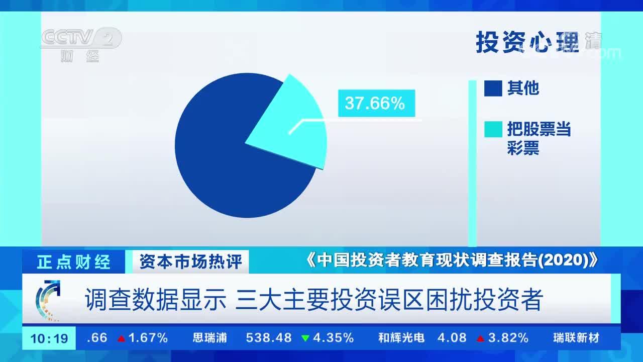 报告:四成投资者把炒股当彩票,超七成过度自信自身金融知识