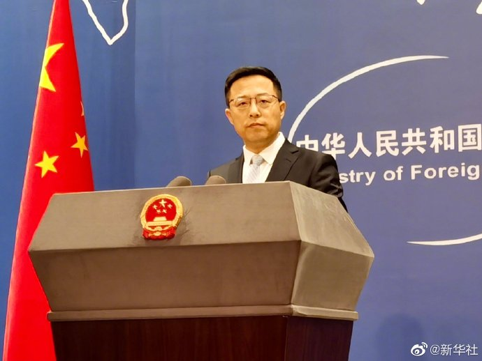 赵立坚:美方没资格对中国指手画脚 中方在天津更不吃美方这一套