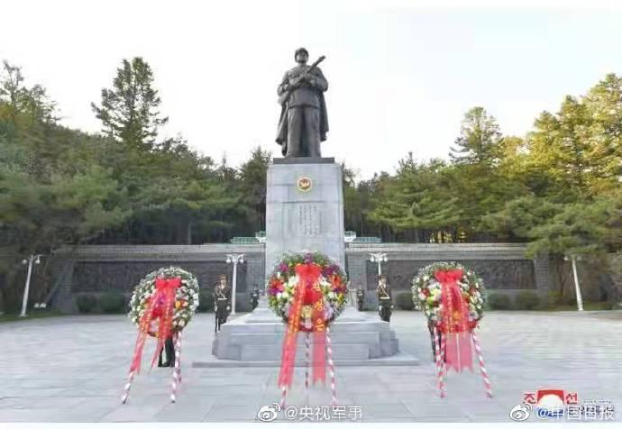 金正恩向志愿军烈士陵园送花圈