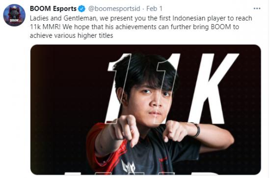 印尼小将Mikoto天梯分达到11000分