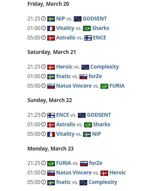 【蜗牛电竞】ESL Pro League公布第11赛季分组与赛程