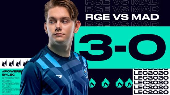 RGE 3:0横扫MAD晋级败者组决赛 MAD确定四号种子入围赛打起